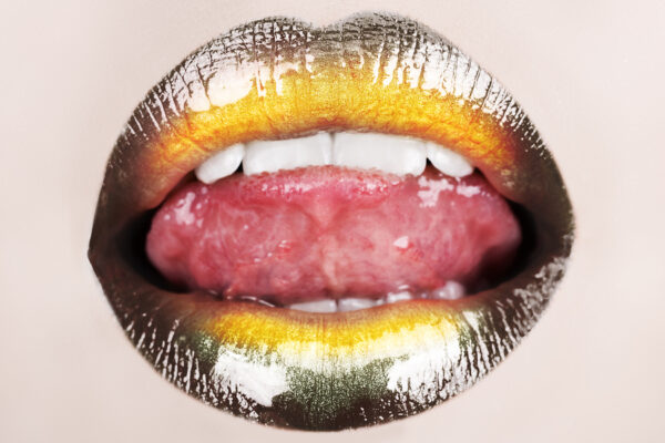 Yellow Lips with Tongue