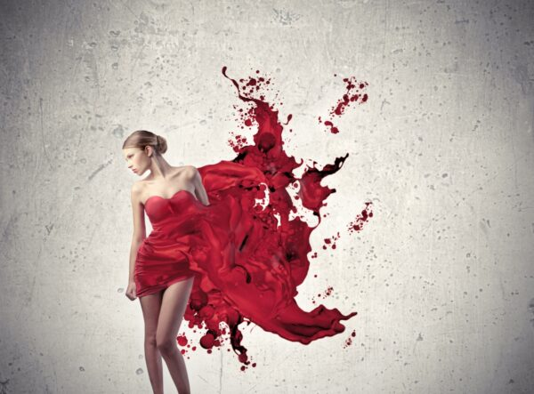 Paint Red Dress