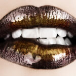 Gold Lips Biting