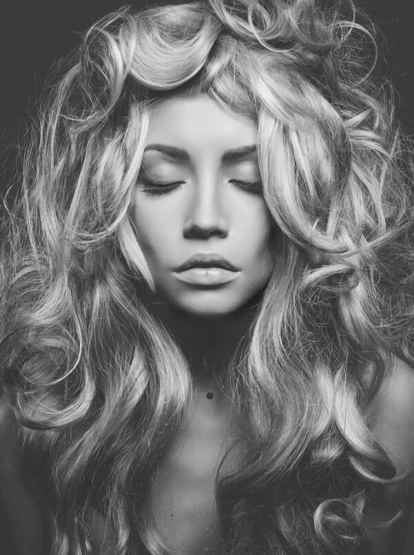 Black and White Blond Women