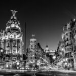 Black and White Streets Madrid