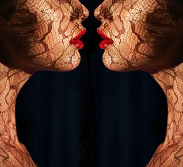 Two Women Red Lips