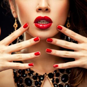 Red Nails and Lips