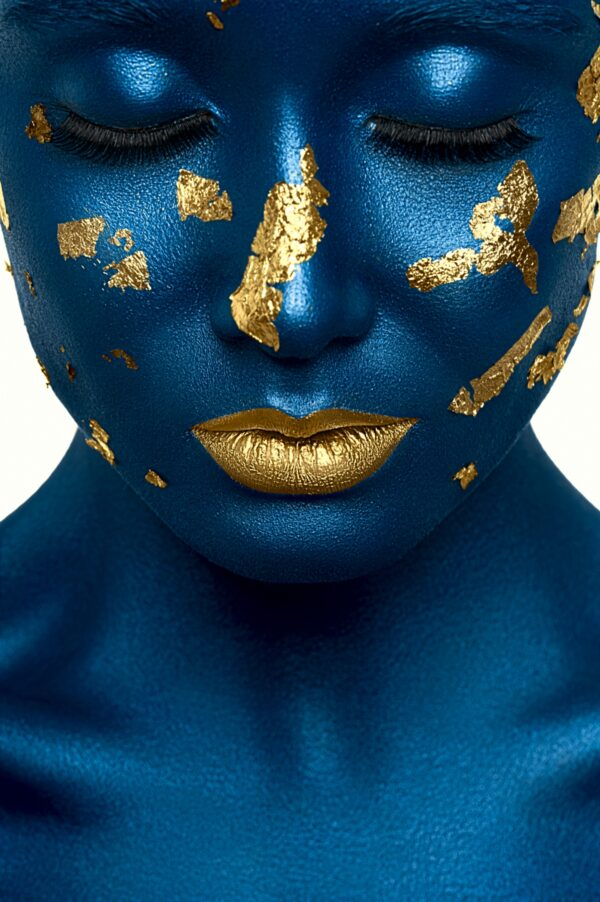 Blue with Gold Face