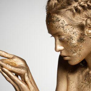 Gold Glitter Women