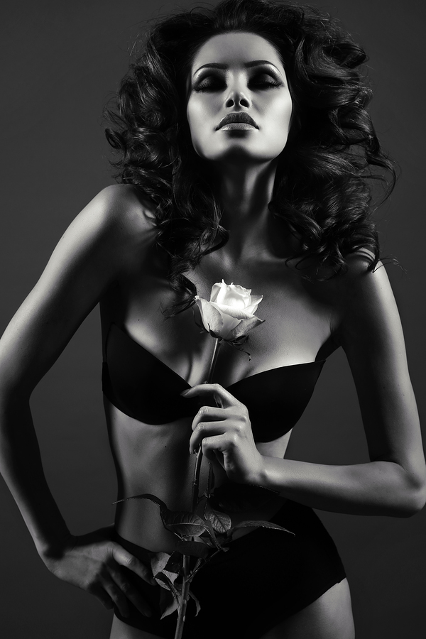 Sexy Women with Rose