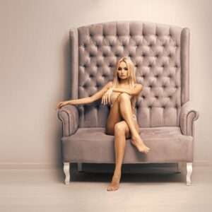 Beautiful Lady in Chair