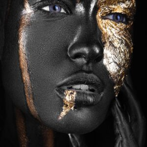 Fashion Portrait Beauty Painted Gold