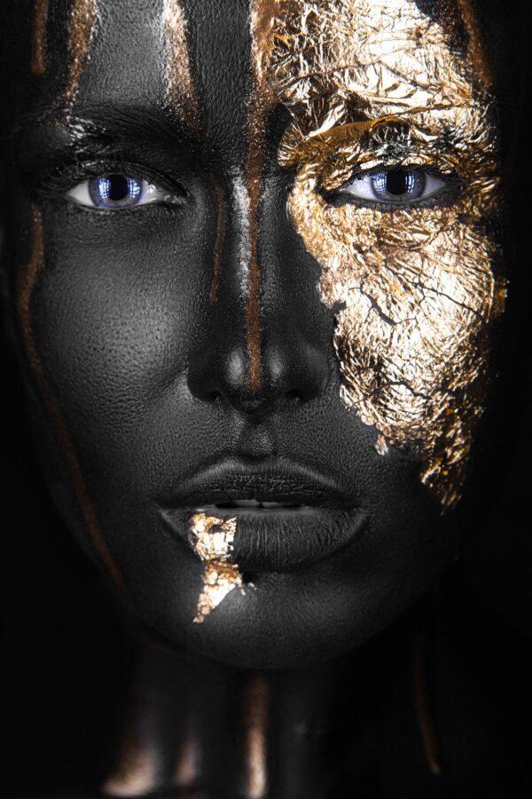 Portrait Painted Gold