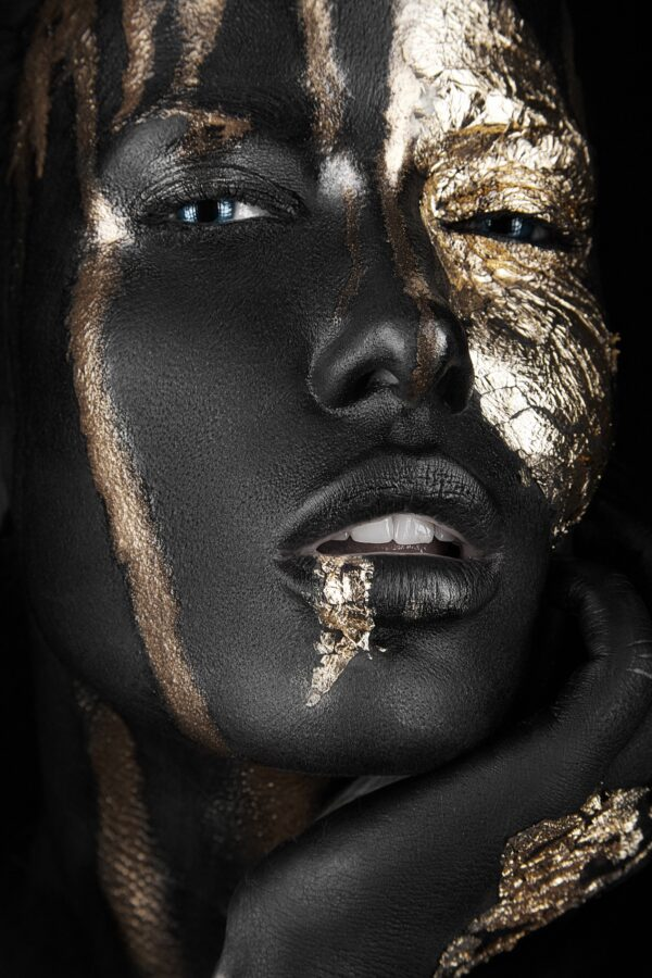 Painted Gold Face