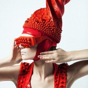 Portrait Fashion Women in Red