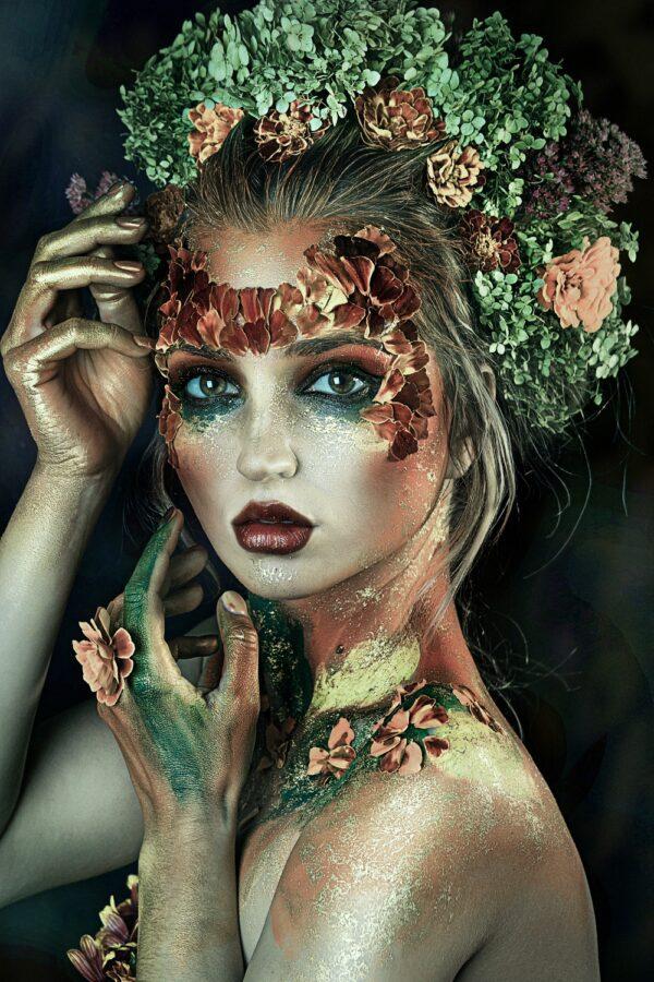 Green Flower Lady