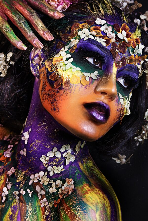 Color Flower Lady