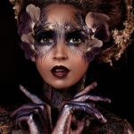 Glitter Painted Flower Lady